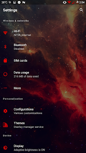[Substratum] Neon Red Theme Screenshot