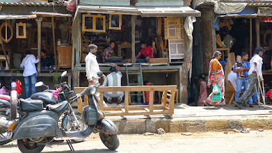 """Photo: Woodwork being sold as """"antique"""", when really it was made with recycled pieces in Dharavi."""