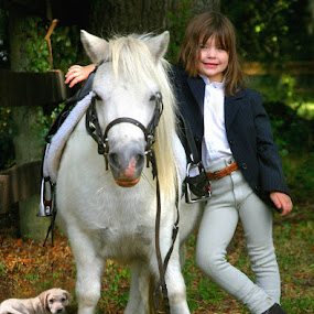 A KIDS BEST FRIENDS by Debby  Raskin - Babies & Children Children Candids ( child, pony, girl, puppy, portrait )