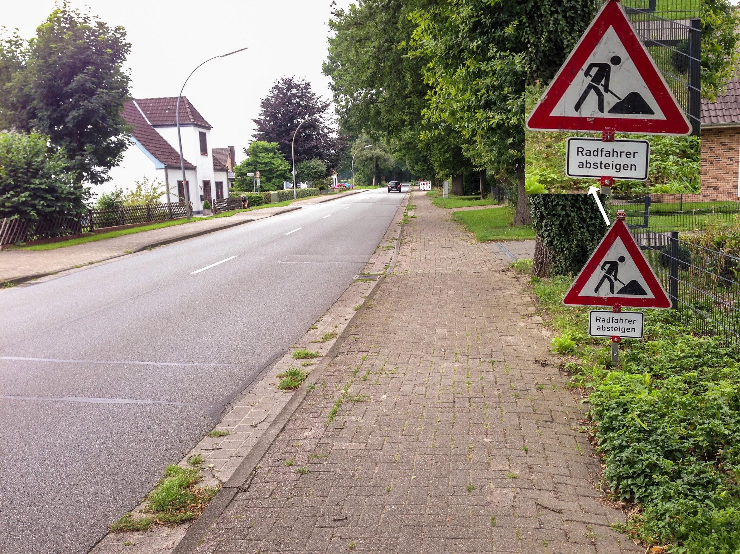 Kein Radweg Westerbecker Str.