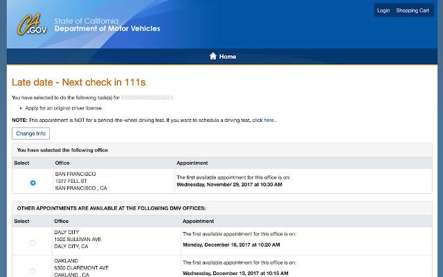 DMV Appointment Checker