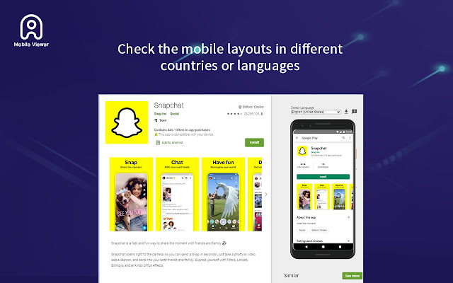 Mobile view for App Stores - ASO