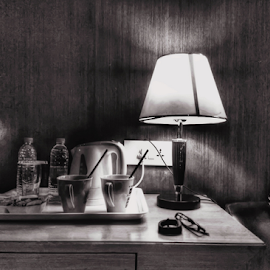 Table by Chaithanya Kumar - Black & White Objects & Still Life