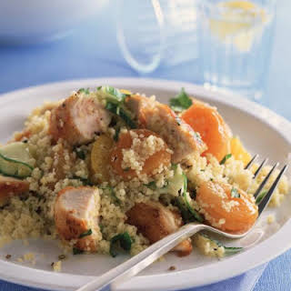Couscous Salad with Chicken and Apricots.