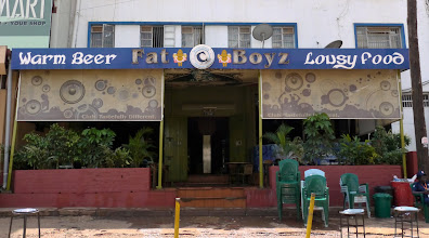 """Photo: While getting supplies in Kampala encountered this """"interesting"""" restaurant"""
