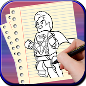 How to Draw Lego Super Hero