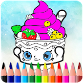 How To Color Shopkins ( coloring game for kids)
