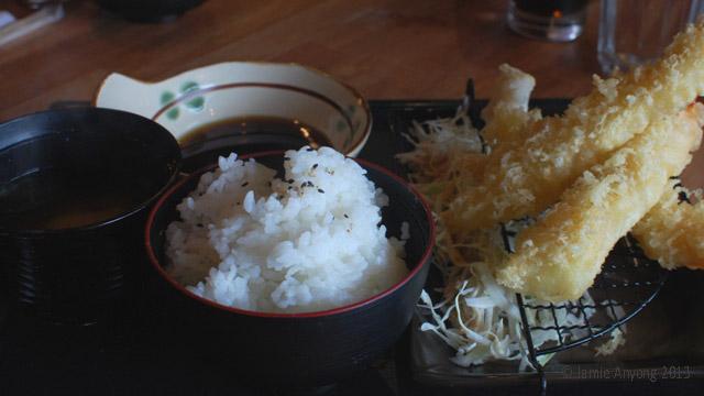 ebi tempura set