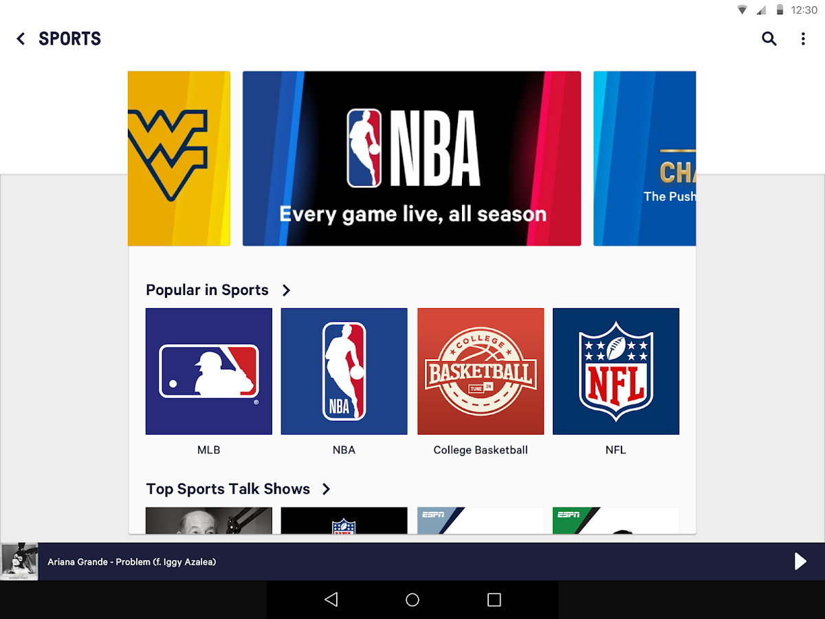 Screenshots of TuneIn: Stream NFL Radio, Music, Sports & Podcasts for iPhone