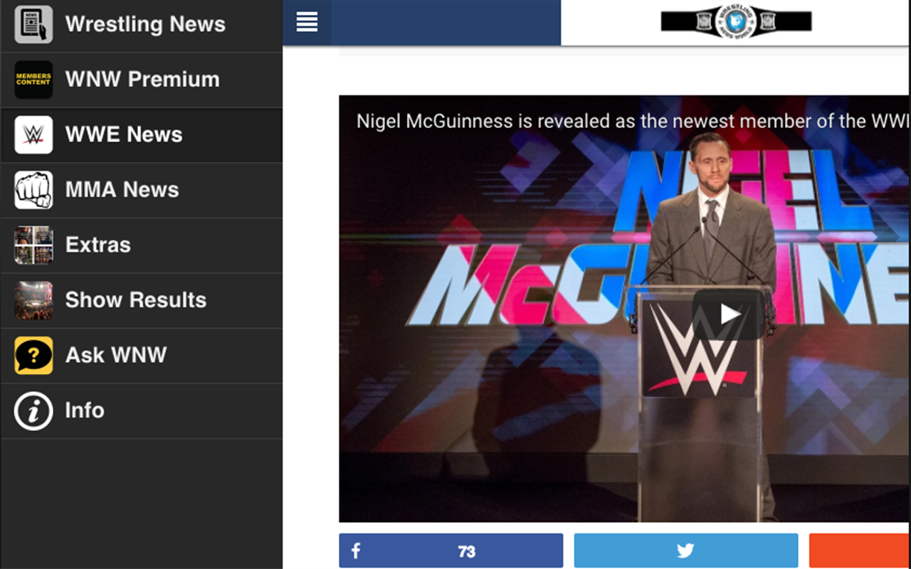 Wrestling News World- screenshot