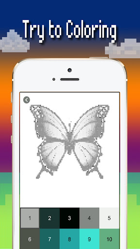 Butterfly color by number : Bugs coloring book apktram screenshots 3