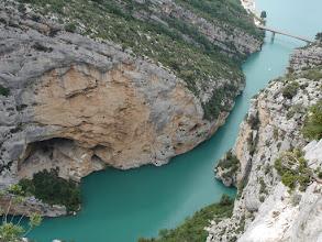 Photo: Entrance to the Verdon Gorge from Lac de Sainte Croix