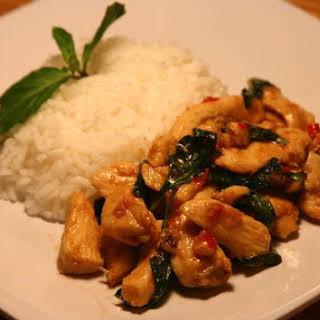Thai Basil Chicken Stir-Fry.