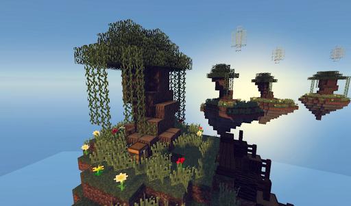 skyblock mod mcpe screenshot 1