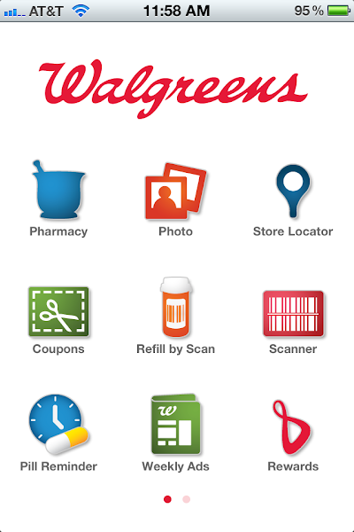 Photo: Inside the app you get access to everything including the Pharmacy, Photo Center, Weekly Ads, your Balance Rewards information and a lot more.