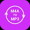 M4a to mp3 audio converter icon