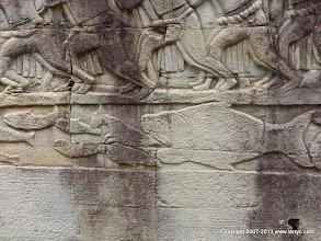 Photo: Detail of frieze, Bayon