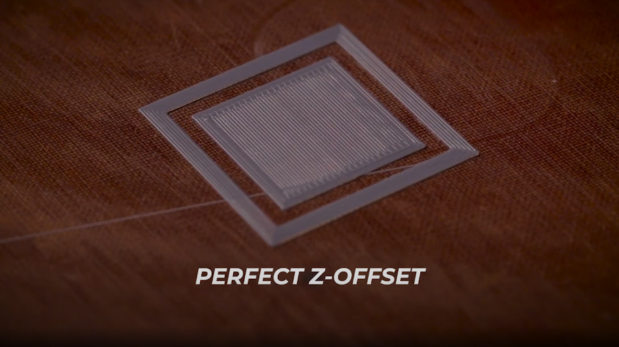 A calibration 3D print with the Z-Offset set perfectly.