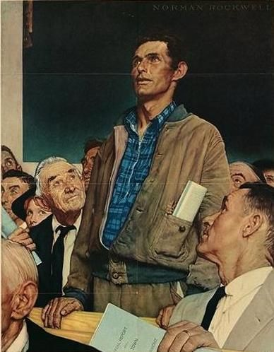 Norman Rockwell - Freedom of Speech