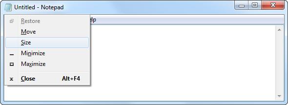 operate windows with keyboard