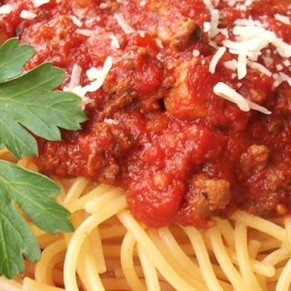 Meat-lover's Slow Cooker Spaghetti Sauce.