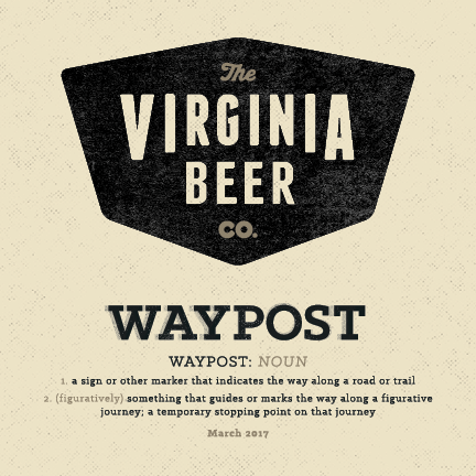 Logo of Virginia Beer Co. Waypost: Purple