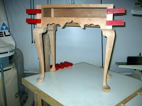 Table carcase glue up