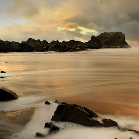Hartland Quay by Adam Griffin - Landscapes Waterscapes ( quay )