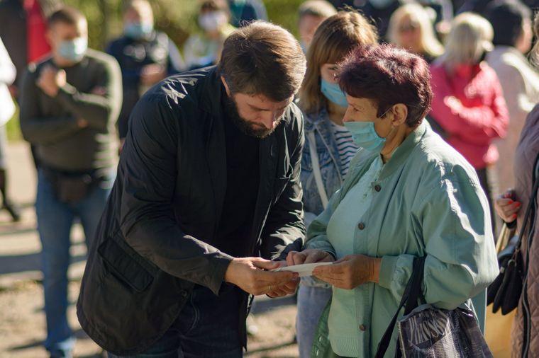 Дмитро Шевчик на зустрічі з виборцями у Кривому Розі