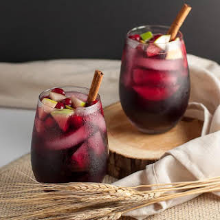 Cranberry Apple Cider Sangria.