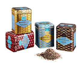 Photo: MARIEBELLE Assortment of four 6 oz. tins of hot chocolate, packaged in red holiday box (not shown). $50. USA. Seventh Floor. 212 872 2686