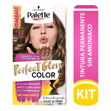 Tinte Palette Perfect   Gloss Color Rubio Miel N°700 X 1und Sin Amonia