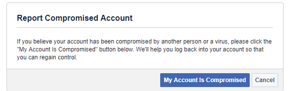 recover hacked facebook page