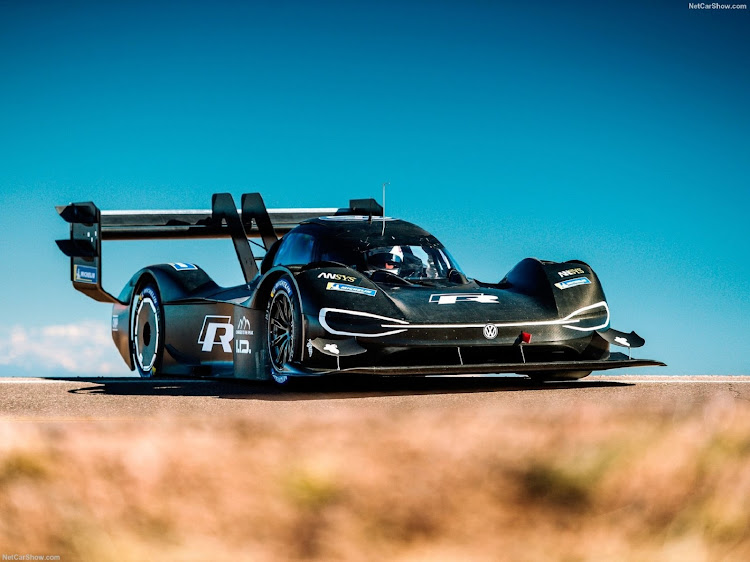 The VW ID R car that shattered the Pikes Peak hillclimb record last year. Picture: SUPPLIED