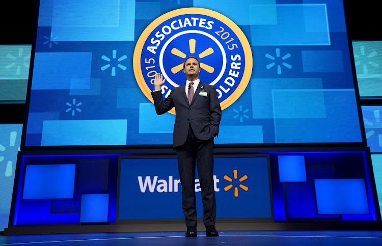 Wal-Mart CEO Doug McMillon speaks at the company's annual meeting in Fayetteville, Arkansas, in 2015. File photo: REUTERS