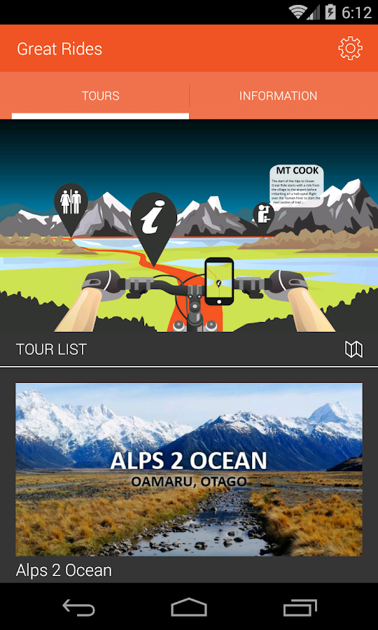 Great Rides App- screenshot