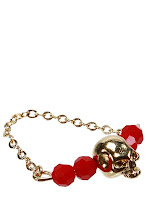 Photo: Bague Skull LOU EVEN, Plaqué or rouge - Mode BE