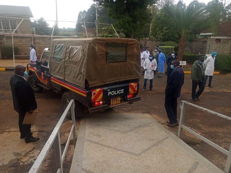 Kangogo's body arrives at MTRH