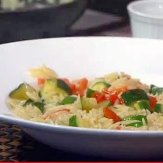 Orzo with Zucchini and Red Peppers