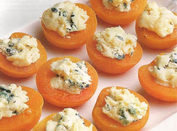 Apricots With Blue Cheese Topping Recipe