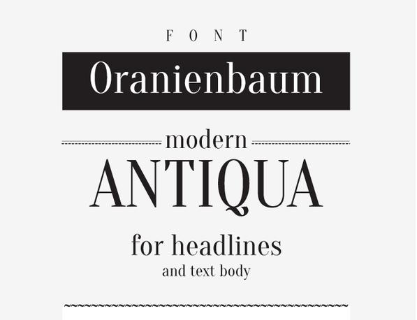 Oranienbaum Free Fonts
