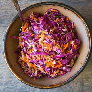 Spicy Cabbage and Carrot Slaw.