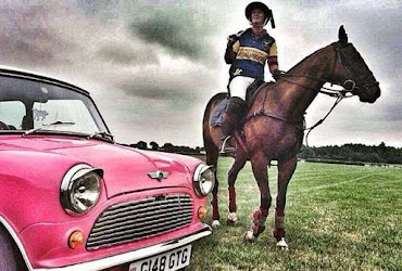 the pink mini at a polo match in england