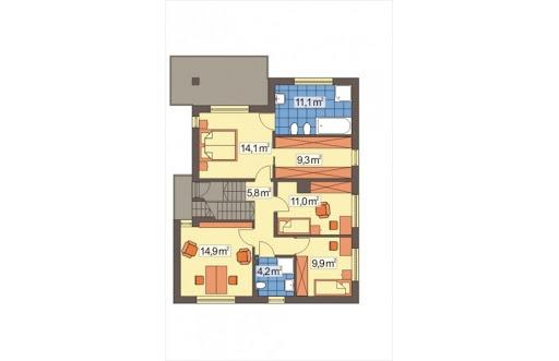 Nasz Dom wersja A - Rzut piętra