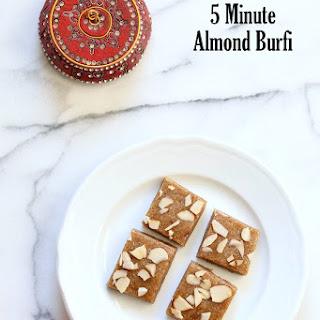 Badam Burfi - Almond Fudge And Basundi