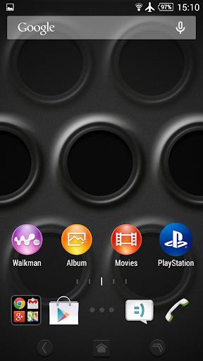 XPERIAu2122 Black Steel Theme  screenshots 2