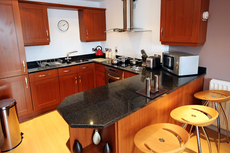 Kitchen at High Quays PU