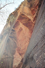 Photo: This huge rock broke off in the 70s and dammed the entire canyon.