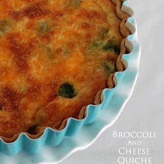 Broccoli and Cheddar Cheese Quiche
