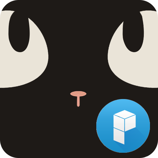 Sweet Black Cat launcher theme